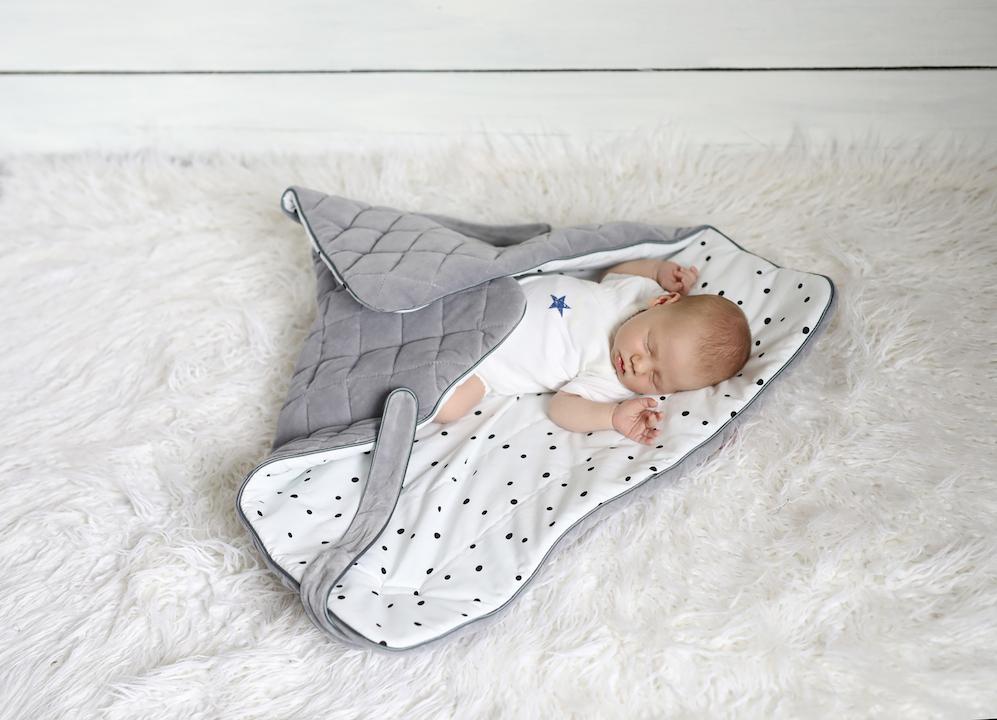 822ef9fa2578 SLEEPEE Rożek niemowlęcy royal baby grey pink » Dla maluszka ...