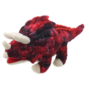 Dinozaur pacynka Baby Triceratops (Red) PUPPET COMPANY
